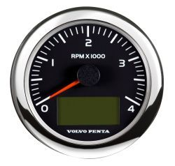"4"" Tachometer Kit, 4000rpm - Black"