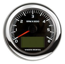 "4"" Tachometer Kit, 6000rpm - Black"