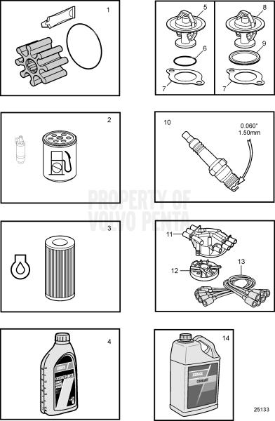 maintenance parts  4 3gxi  u0026 4 3gi v6-200-a  v6-225-a - 47702824