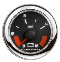 Voltmeter, 12v - Black