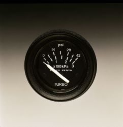 Turbo Pressure Gauge, psi - Black