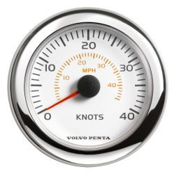 "4"" Speedometer, 0-40kn/0-45mph - White"