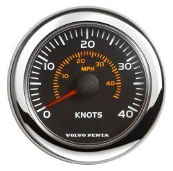 "4"" Speedometer, 0-40kn/0-45mph - Black"