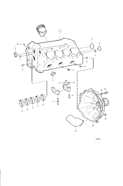 Cylinder Block And Flywheel Cover