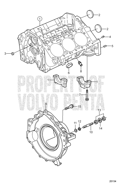 Cylinder Block And Flywheel Housing