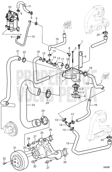 circulation pump and thermostat 5 0gxic-j - 7748510