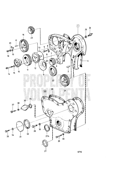 Timing Gear Cover And Timing Gears