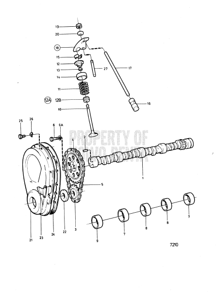 Camshaft And Valve Mechanism: B