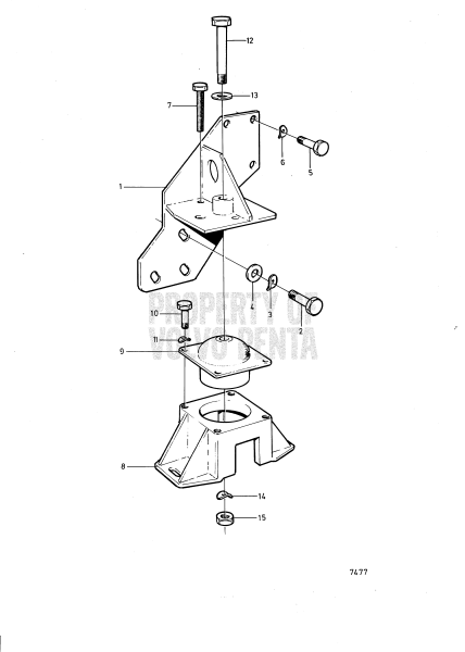 Engine Suspension For Reverse Gear Twin Disc Mg507a