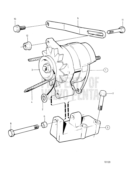 Alternator And Installation Components