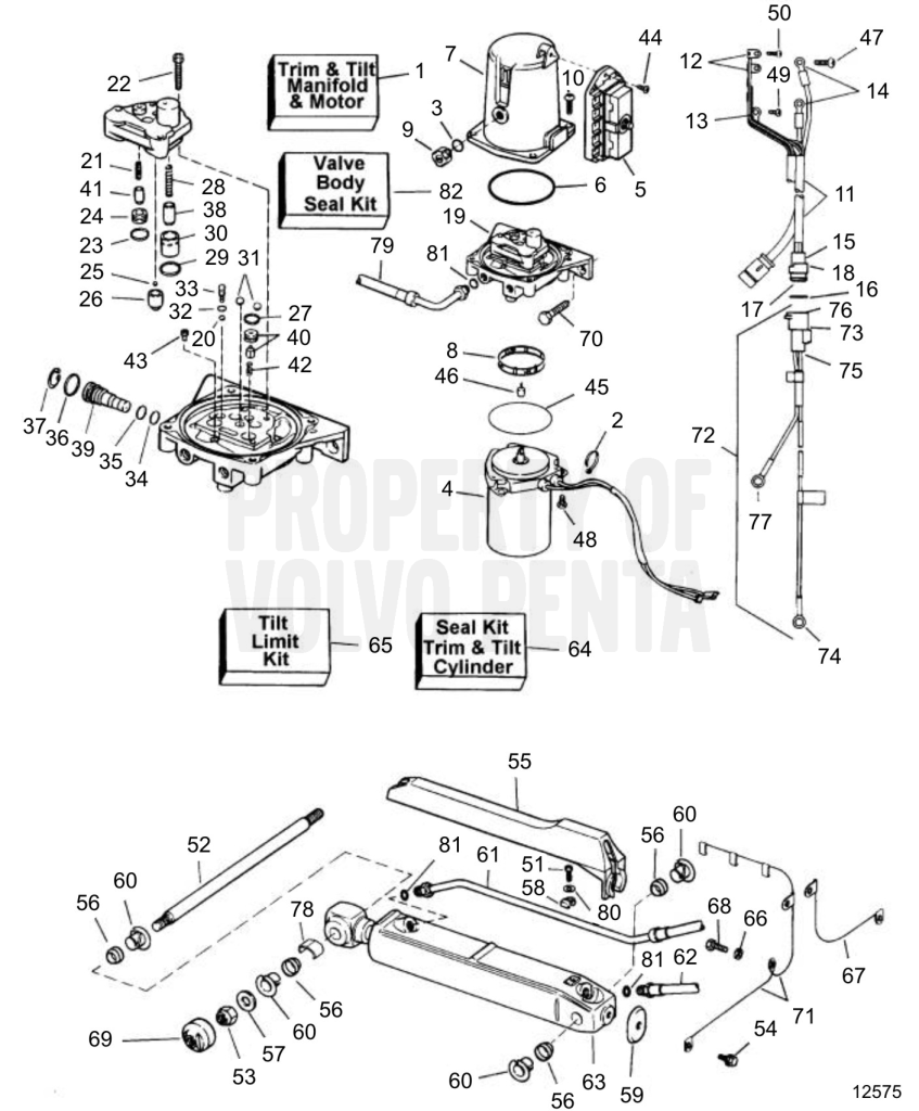 power trim system sx-c  sx-r - 7749307