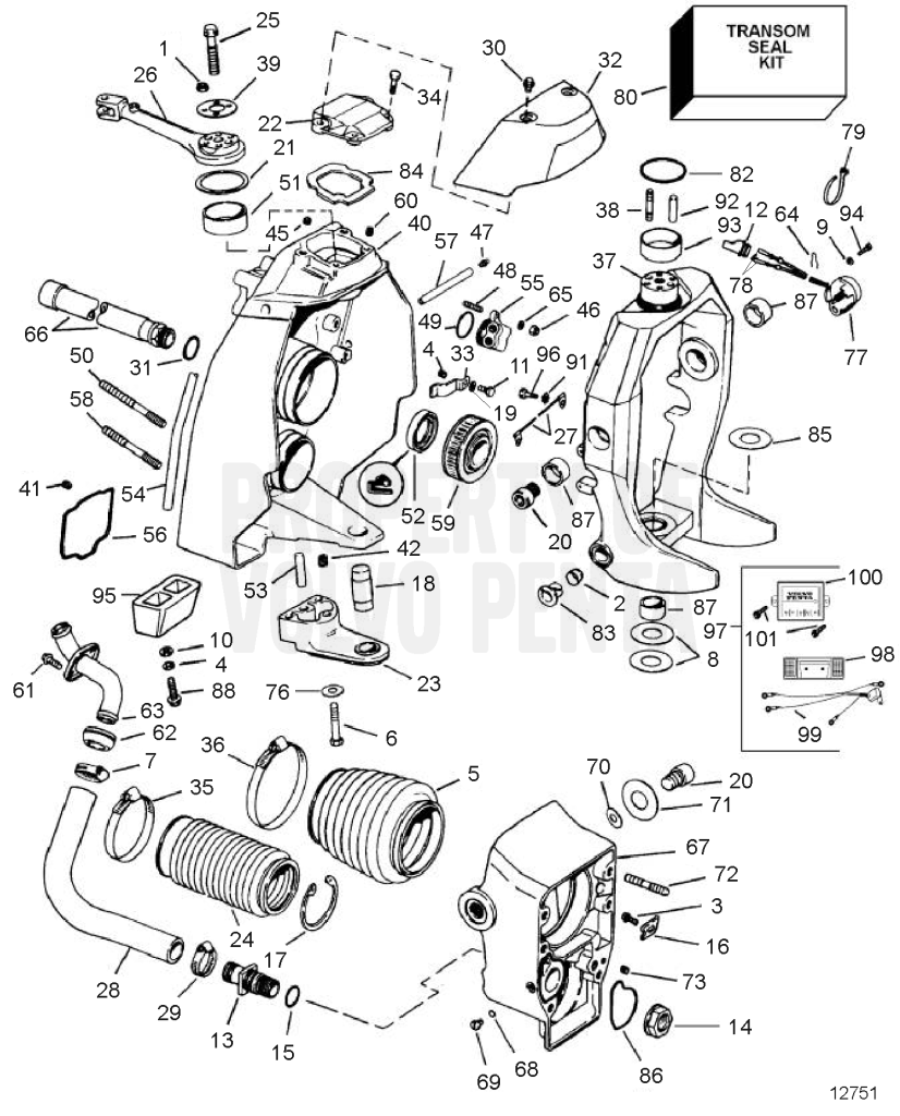 volvo penta 290 outdrive diagram