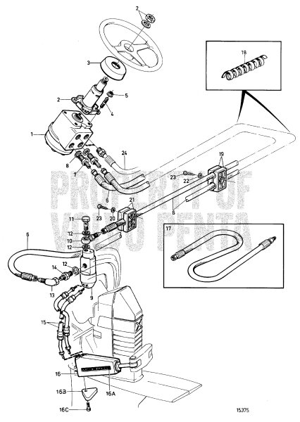 Steering And Steering Cylinders For Single Installation