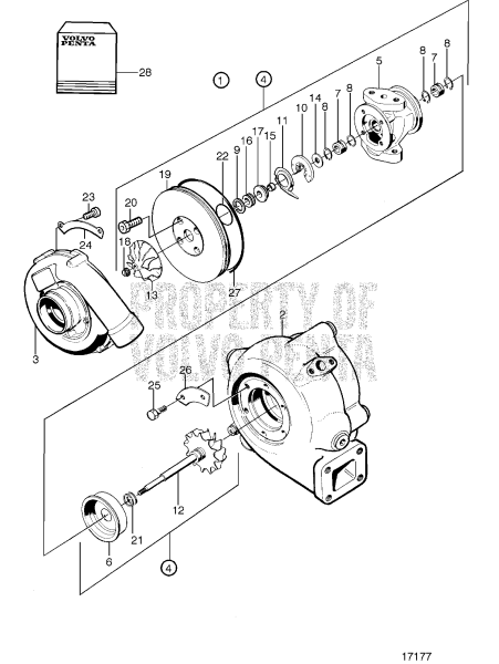 Turbocharger, Components: 3827092