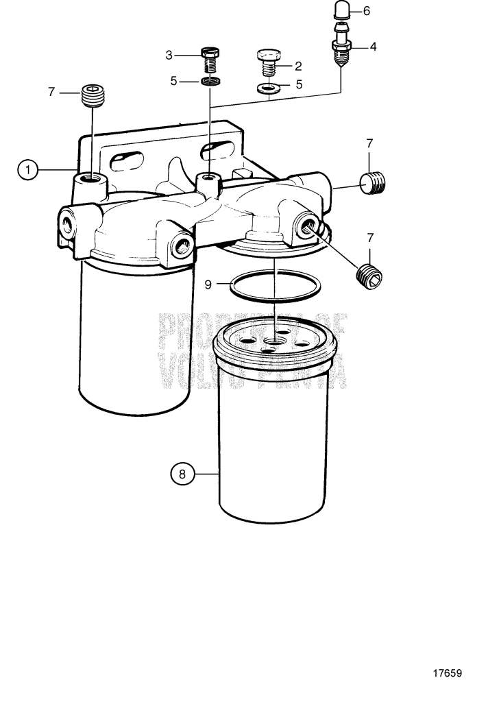 fuel filter  components  8194541 tamd165a-a  tamd165c-a  tamd165p-a   8194541