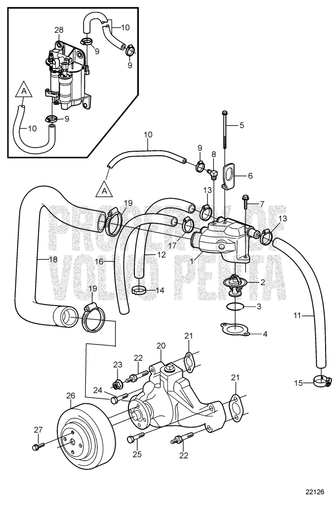 Volvo Penta Fuel Pump Assembly Diagram
