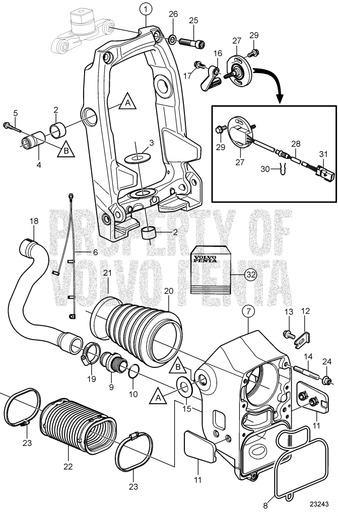 cooling for graphics on system volvo evinrude of com thebeginnerslens intended hose parts routing penta diagram