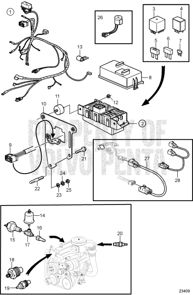 Engine Harness And Sensors