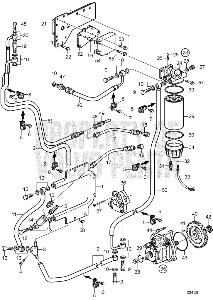 Fuel System D9a2a D9 425 D9a2a D9 500 R4 D9a2a D9 575 D9a2b D9