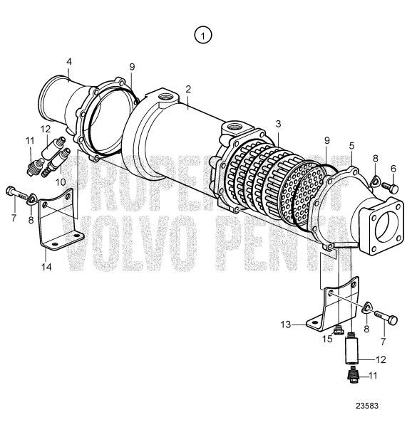 Oil Cooler For Reverse Gear, Components: 3825936