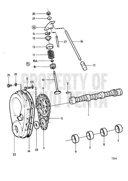 Camshaft And Valve Mecanism