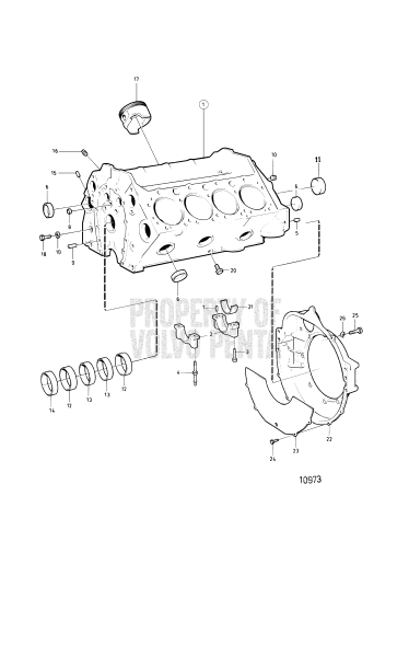 Cylinder Block And Flywheel Cover: 501b/Ms4