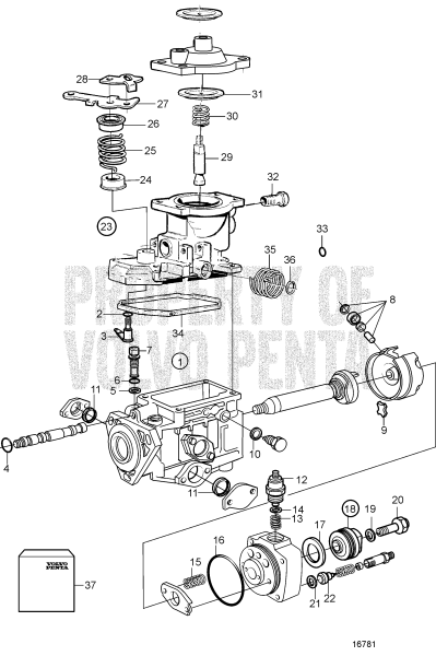 Fuel Injection Pump, Components: 861315