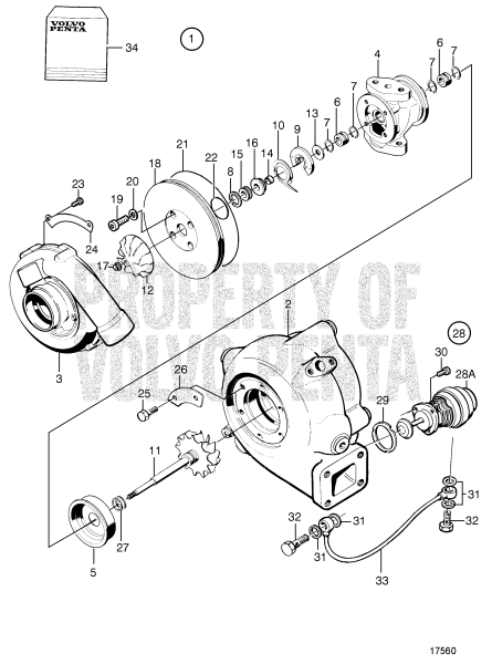 Turbocharger, Components: 866639