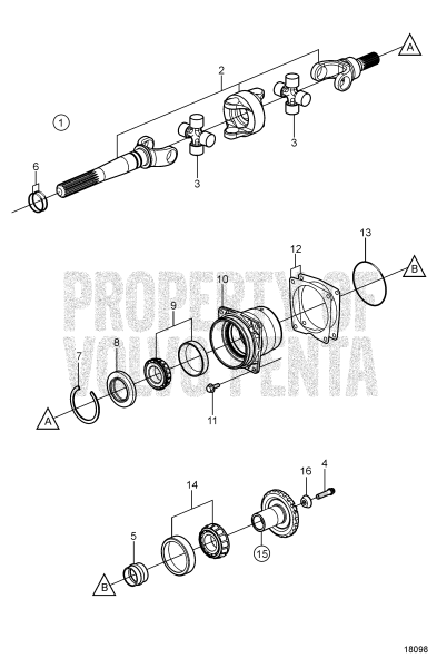 U-Joint And Bearing Carrier