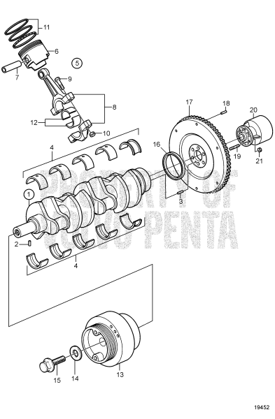 Crankshaft And Related Parts, Early