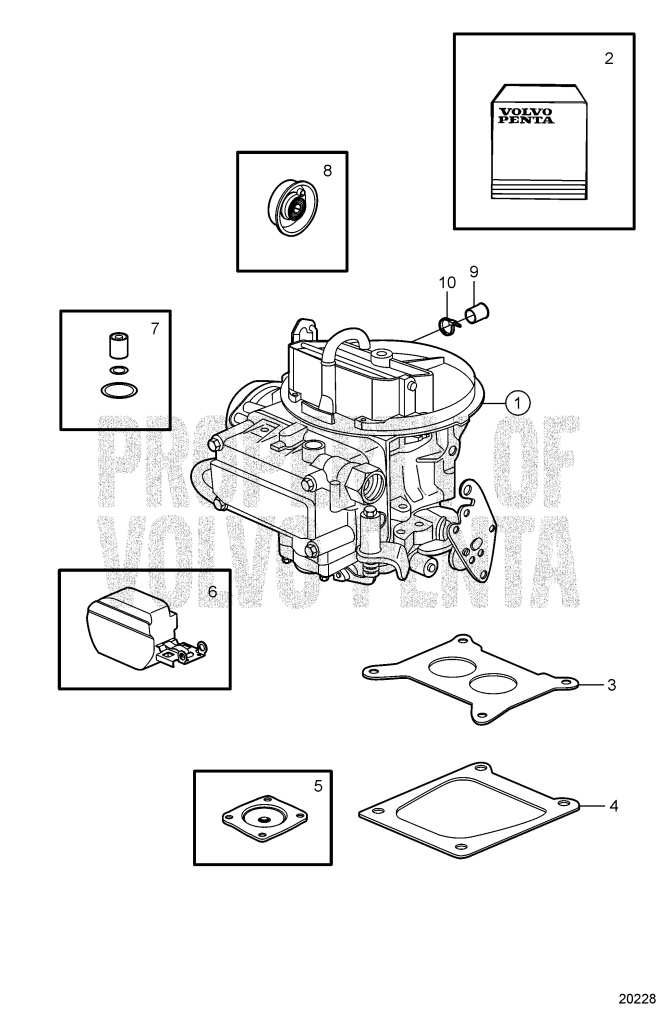 Carburetor Service Kits 5.0GL-C, 5.0GL-D, 5.0GL-E ...
