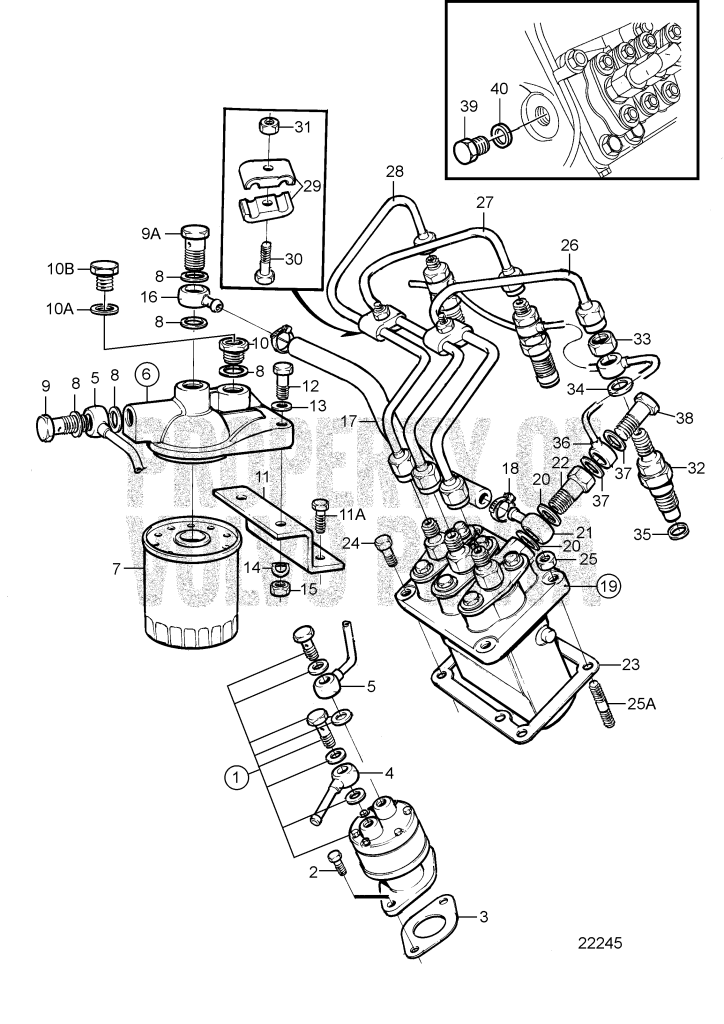fuel system md2040c  md2040d - 7740690