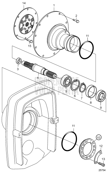 Flywheel Housing And Primary Shaft