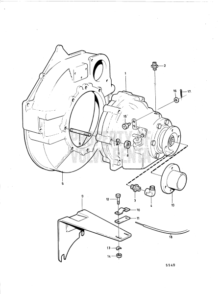 Connecting Components Reverse Gear Borg Warner
