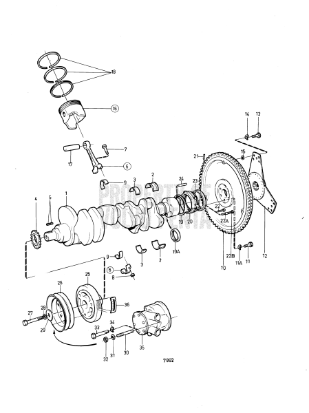 Crankshaft And Related Parts: Bb260b Mo-58296